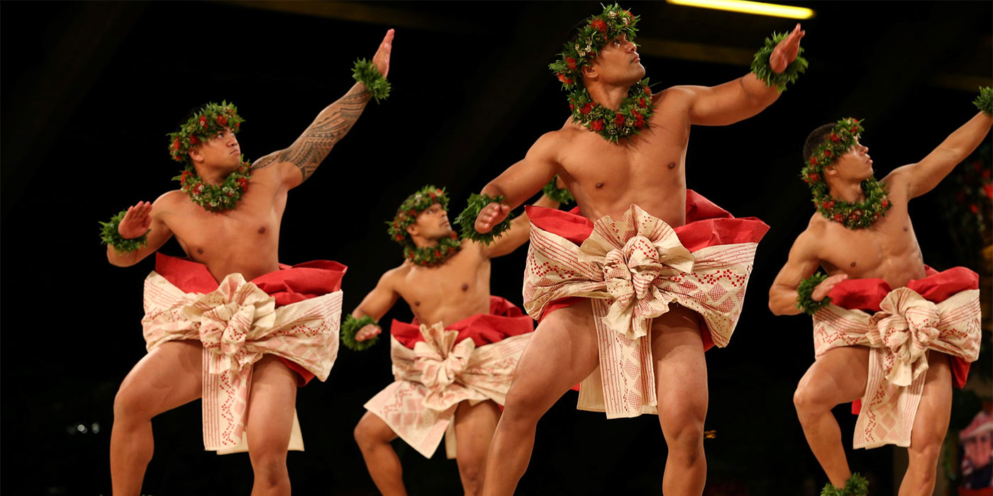 Hawaiian native dancers