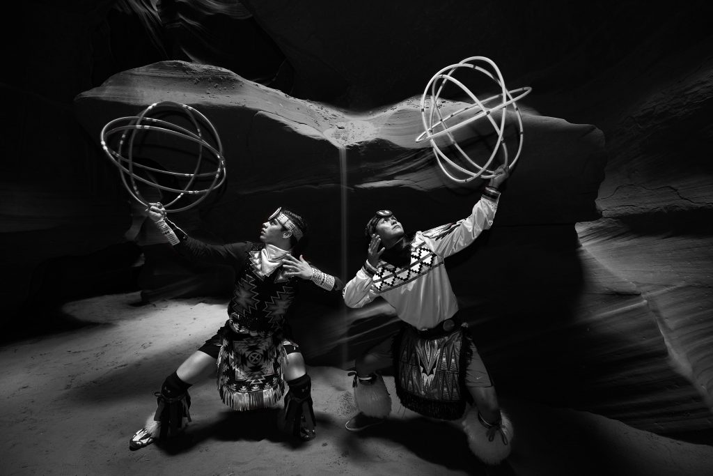 Joseph Secody (Navajo Nation) and Tomas Hunt (Navajo Nation) will perform Hoop Dancing Demonstrations at the National Museum of the American Indian in NYC. // Photo courtesy of Yellow World Productions
