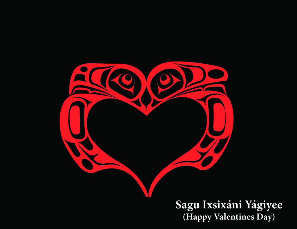 Valentines Day Artwork // image used with permission of TJ Young, of the Kaigani Haida Nation