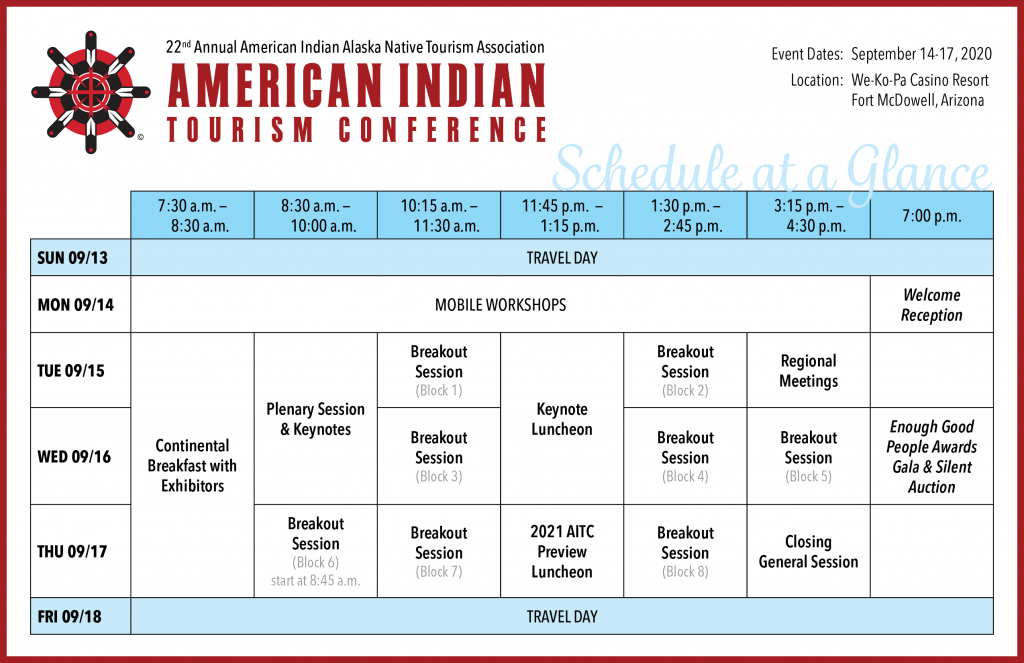 AITC 2020 Schedule at a Glance
